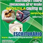 Apostila Digital CREFITO10ª Região - SC - MATERIAL Completo para Escriturário - CREFITO-10