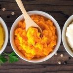 Purês de cenoura , batata e mandioquinha , qual é melhor para a saúde