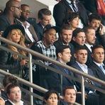 Beyoncé, Jay Z com David Beckham em jogo de futebol em Paris