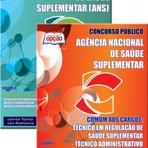 Concursos Públicos - Apostila Concurso ANS 2014/2015 - Agência Nacional de Saúde Suplementar