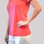 Aproveite blusa coral no verão