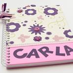 Veja cadernos personalizados femininos