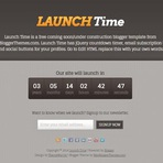 Design - Launch Time Blogger Template