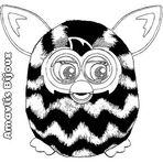 Desenhos Para Colorir: Furby Boom