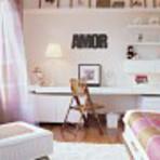 Decoração de quarto feminino jovem