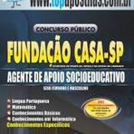 Empregos - Apostila Fundação Casa SP 2014 - Agente de Apoio Socioeducativo[+CD Grátis]