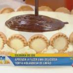 Torta holandesa de limão receita Hoje em Dia 02/10/2014