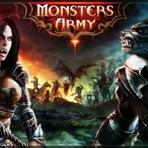 Entre na luta entre vampiros e lobisomens em Monsters Army