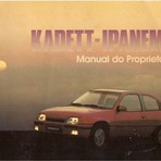 Manual do proprietário Chevrolet Kadett e Ipanema