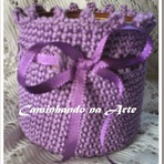 Quer aprender a cobrir um pote com crochê?