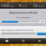 Design - Maintenance Mode Blogger Template