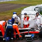 Fórmula 1 - Bianchi sofre grave acidente e é operado de emergência