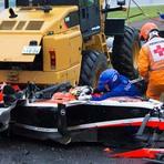 Imagens arrepiantes do acidente de Jules Bianchi no GP do Japão