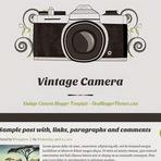 Design - Vintage Camera Blogger Template