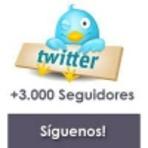 Três mil a Três mil e quinhetos seguidores no twitter dentro de seis a vinte quatro horas