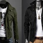 Jaquetas masculinas militar para homens de estilo