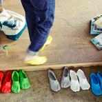 Design - Fondue Slippers, chinelos feitos na hora