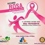 Mulher - 1ª Caminhada Outubro Rosa em Pedro de Toledo