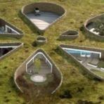 Seis residências subterrâneas e ecoeficientes