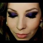 maquiagem roxa para noite