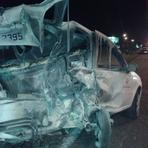 Pintura - 10-10-2014 Engavetamento em viaduto da BR-101 deixa uma pessoa ferida em Itajaí
