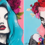 Pintura - As belas mulheres ilustradas de Pippa McManus