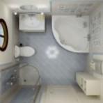 Decoração de banheiro moderno e pequeno