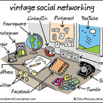 Humor - Vintage Social Network