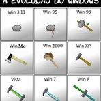 Humor - Evolução do Windows