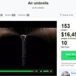 Conheça o Air Umbrella - Um guarda chuva invisível
