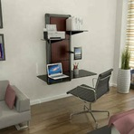 Secretária criativa e inovadora ideal para espaços pequenos