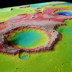Curiosidades - Quando a água fluiu em Marte: fotos coloridas mostram vales esculpidos pelas enchentes antigas