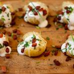 Deliciosas batatas ao Murro com bacon!