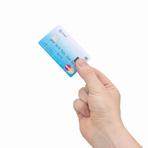 Cartão de crédito com sensor de impressão digital