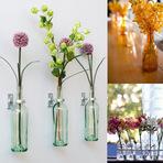 Como fazer decorações com flores em vasos?