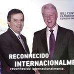 Aecio e o antigo patrão de FHC:  Aécio pagou para tirar a foto com Bill Clinton exibida na campanha