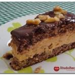Culinária - Receita Torta Mousse de Doce de Leite com Nozes