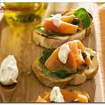 Culinária - Receita Bruschetta de salmão defumado