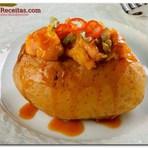 Culinária - Receita Batata recheada com frango