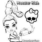 Pintura - Desenhos Colorir Monster High Genie