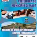 Concursos Públicos - [Apostila Digital] Prefeitura de Mauá 2014 - Auxiliar de Apoio Operacional l - Limpeza e Manutenção
