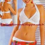 Lindo Biquíni Branco Feito em Crochê Para o Verão!