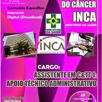 Apostila INCA - Especifica para  Instituto Nacional do Câncer Concurso Público Ministério da Saúde do Brasil - 2014