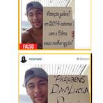 Foto que circula nas redes sociais onde Neymar apoia a candidata Dilma é falsa