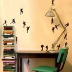 Arquitetura e decoração - Modernos e versateis modelos de decorações com adesivos de parede