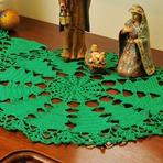Outros - Toalhinha de Natal de Crochê