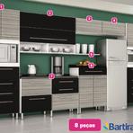 Arquitetura e decoração - Uma cozinha elegante em preto e prata