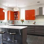 Arquitetura e decoração - Cozinhas coloridas e ousadas