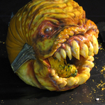 Artista esculpe Abóboras com arrepiantes Faces para o Halloween
