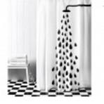 Arquitetura e decoração - Cortinas de duche coloridas e divertidas